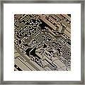 Printed Circuit Board, Computer Artwork Framed Print
