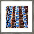 Programs On Rows Of Seating Framed Print by Marlene Ford