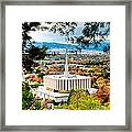 Provo Temple Pine Frame Framed Print
