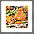 Pumpkin And Corn Combo Framed Print