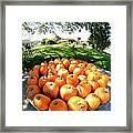 Pumpkin Round Framed Print