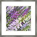 Purple And White Foxglove Square Framed Print