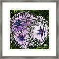 Purple Daisies World - Abstract Art Framed Print