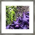 Purple Stars Framed Print