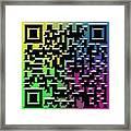 Qr Art Framed Print