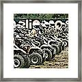 Quad Racers Framed Print