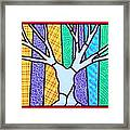 Quilted Winter Tree Framed Print