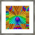 Radiant Rainbow Framed Print