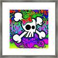 Rainbow Skull 1 Of 6 Framed Print