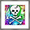 Rainbow Skull 3 Of 6 Framed Print