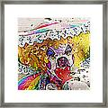 Rainy Day Clown Framed Print