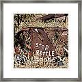 Rattlesnake Warning Framed Print