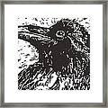 Raven Framed Print by Julia Forsyth