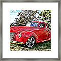 Red 1940 Ford Deluxe Coupe Framed Print