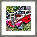 Red And White Chop Top Framed Print