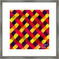 Red And Yellow Basketweave Bias Framed Print