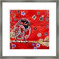 Red Bird On A Branch Framed Print