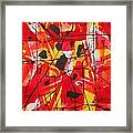 Red Orange Abstract Framed Print