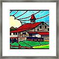 Red Roof Barn On Osceola Springs Road Framed Print