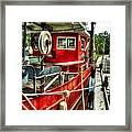 Red Shrimper Framed Print
