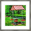 Red Stripes Framed Print