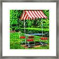 Red Stripes Framed Print