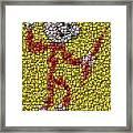 Reddy Kilowatt Bottle Cap Mosaic Framed Print
