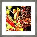 Retro Butterfly Framed Print
