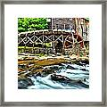 River Rock And A Grist Mill Framed Print