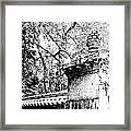 Rockefeller Garden Fence Framed Print