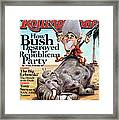 Rolling Stone Cover - Volume #1060 - 9/4/2008 - George W. Bush Framed Print