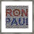Ron Paul Button Mosaic Framed Print