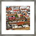 Rooftops In Puerto Vallarta Mexico Framed Print