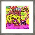 Rose Boquet Art Framed Print