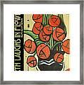 Roses In Vase Poster Framed Print