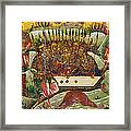 Russian Icon: Dice Players Framed Print
