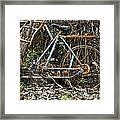 Rusty Wheel Of Bicycle Framed Print