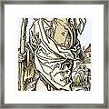 Saint Christopher Carrying Christ Child Framed Print by Sheila Terry