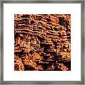 Sandstone Wall Framed Print