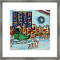 Santa's Pit Stop On  December 24th Framed Print
