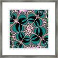 Satin Flowers And Butterflies Fractal 122 Framed Print