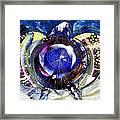 Sea Turtle Ethereal Framed Print