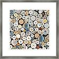 Sewing - Buttons - Lots Of White Buttons Framed Print