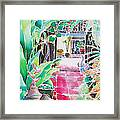 Shade In The Patio Framed Print