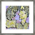 She And He Pen And Ink 2000 Digital Framed Print