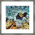 Shores Of The Aegean Framed Print
