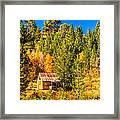 Sierra Nevada Rustic Americana Barn With Aspen Fall Color Framed Print