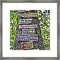 Signs On A Tree Framed Print