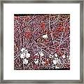 Snowberries And Rosehips Framed Print