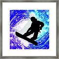 Snowboarder In Whiteout Framed Print